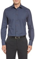 Eton Trim Fit Plaid Dress Shirt