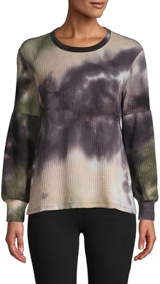 Supply & Demand Textured Tie-Dye Top