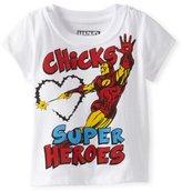 Iron Man Ironman Baby-Boys Infant Chicks Love Super Heroes Tee