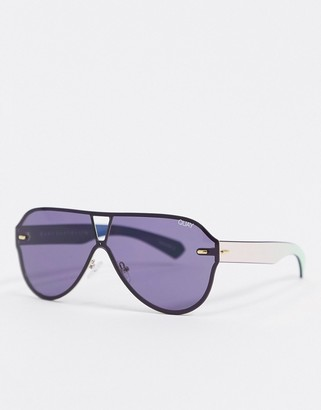 Quay Stay Afloat sunglasses in black