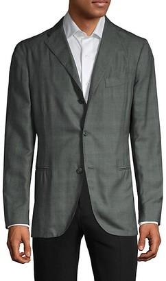 Boglioli Standard-Fit Plaid Wool Silk-Blend Sportcoat