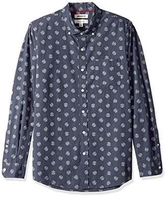 Goodthreads Men's Slim-fit Long-sleeve Printed Poplin Shirt Shirt,X-Small