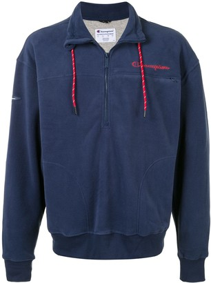 Champion High-Neck Zipped Sweatshirt