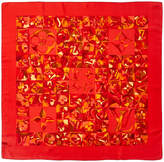 Louis Vuitton Red Silk Scarf