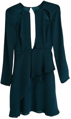 Style Stalker Turquoise Silk Dress for Women