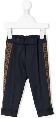 Fendi side logo track pants