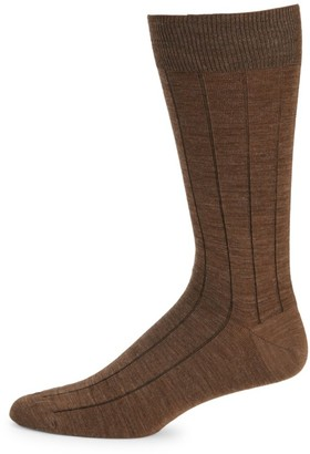 Saks Fifth Avenue COLLECTION Wide Rib Wool-Blend Crew Socks