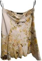 Roberto Cavalli Yellow Silk Skirt for Women