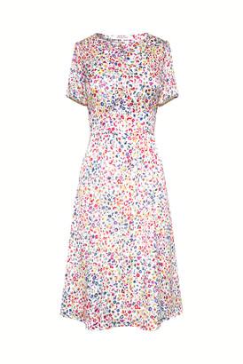 Gerard Darel Salvina - Short Belted Floral Print Dress