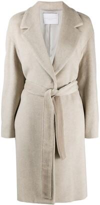 Fabiana Filippi Belted Long-Sleeve Coat