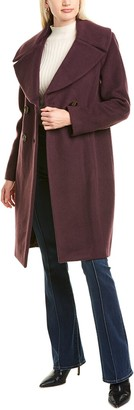 Elie Tahari Athena Wool & Mohair-Blend Coat