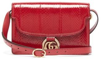 Gucci GG-ring Elaphe Shoulder Bag - Burgundy
