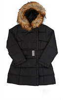American Widgeon AMERICAN WIDGEON FAUX-FUR-TRIMMED COAT-BLACK SIZE 5