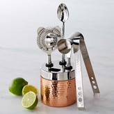 Williams-Sonoma Copper Hammered Bar Tool Set