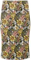 Dorothy Perkins Yellow Jacquard Pencil Skirt