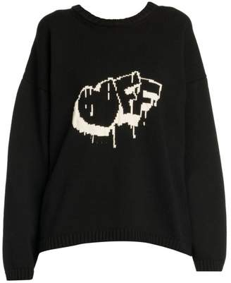 Off-White Off White Front Off Knit Sweater
