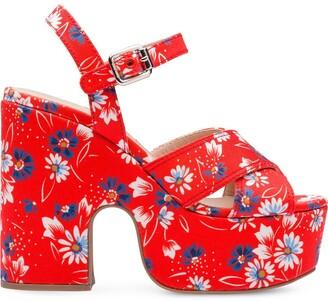 Miu Miu Bouquet gabardine sandals
