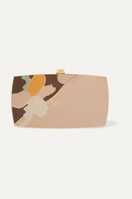 13bc 13BC - The Indulgence Gold-tone And Enamel Clutch
