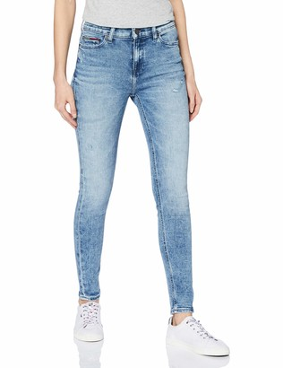 Tommy Jeans Women's MID RISE SKINNY NORA SNMD Straight Jeans