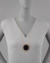 House Of Harlow Sunburst Pendant Necklace, Black
