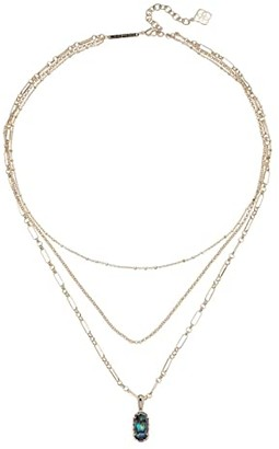 Kendra Scott Elisa Triple Strand Necklace (Gold/Abalone Shell) Necklace