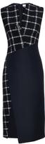 Balenciaga Contrast sleeveless wool-blend dress