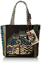 Laurèl Burch 8.5 x 8.25 x 2.75 Medium Tote with Zipper Top, Spotted Cats