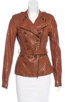 Rachel Zoe Double-Breasted Leather Jacket