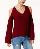 American Rag Juniors' Cold-Shoulder Sweater, Created for Macy's