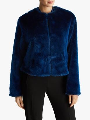 Fenn Wright Manson Petite Francoise Faux Fur Jacket, Blue
