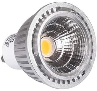 ECO Lights GU10 7W LED Bulb Cob 60W Equivalent COOL 6000K ALUMINIUM, Pack of 4