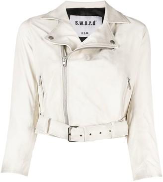S.W.O.R.D 6.6.44 Cropped Biker Jacket