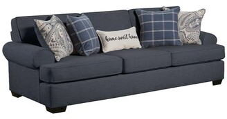 "Winston Porter Southampton 97"" Round Arm Sofa with Reversible Cushions"
