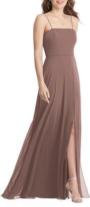 LOVELY Elliott Square Neck Chiffon Gown