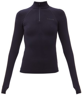 Falke Quarter-zip Thermal Top - Dark Navy