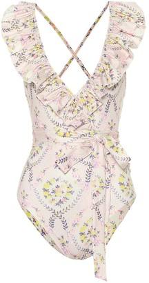 LoveShackFancy Jasper floral swimsuit