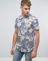 Brave Soul Florak Print Short Sleeve Shirt