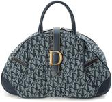 Christian Dior Pre-Owned Bowling-Style Bag In Blue Trotter Pattern