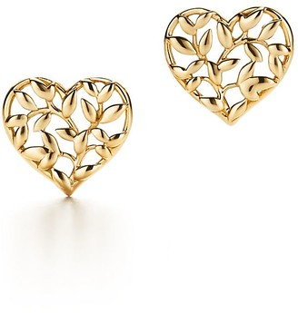 Tiffany & Co. Paloma Picasso Olive Leaf heart earrings in 18k gold