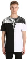 Marcelo Burlon County of Milan Aish Two Tone Cotton Jersey T-Shirt