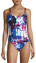 Calvin Klein Abstract Print One-Piece Swimsuit