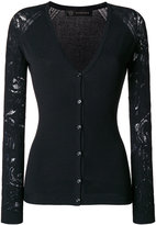 Versace lace sleeve cardigan - women - Polyester/Viscose - 38