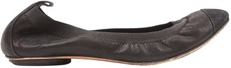 Chanel Black Suede Ballet flats