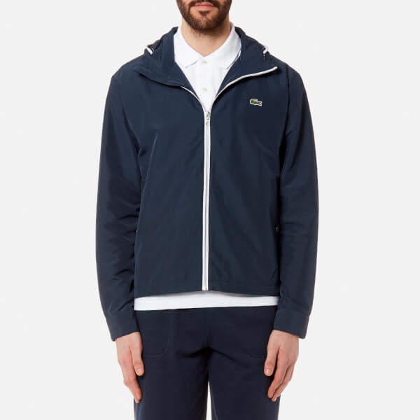 Lacoste Men's Lightweight Jacket Navy Blue/White