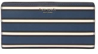 Kate Spade Cameron York Striped Slim Large Bi-Fold Wallet