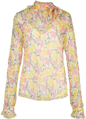 Jason Wu Collection Sheer Floral Blouse