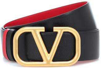 Valentino VLOGO reversible leather belt