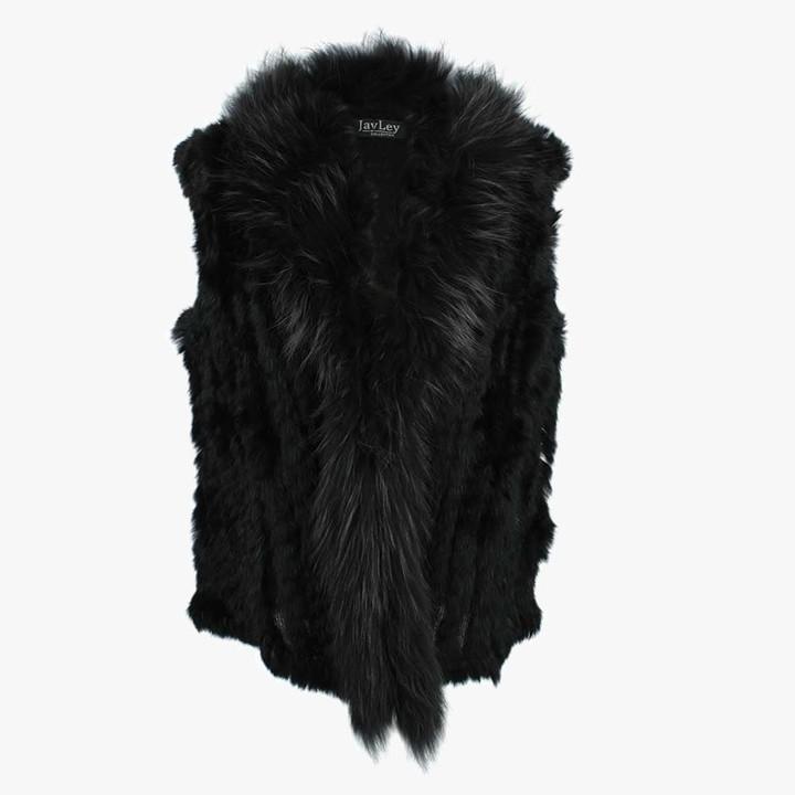9f7450a3e Jayley Kim 3 Black Fur Gilet