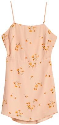 Lumiere Floral Back Tie Cutout Mini Dress