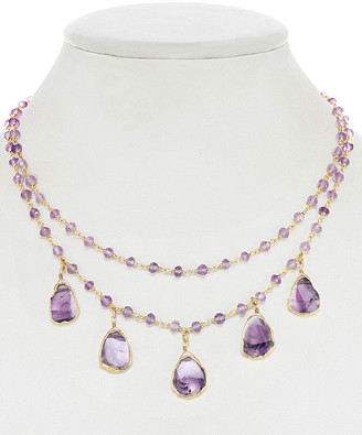 Rachel Reinhardt 14K Over Silver Amethyst Necklace